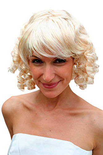WIG ME UP VK Event Fashion - Perruque Blonde, Bouclée, Claire, Style Gothique, Baroque, Époque Coloniale.