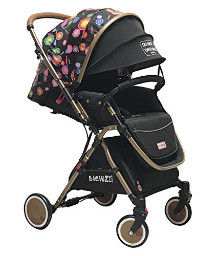 Baciuzzi, passeggino pieghevole con seduta alta e manico reversibile per seduta fronte mamma, completo di accessori e borsa coordinata, Verso Coupè, Jaguar