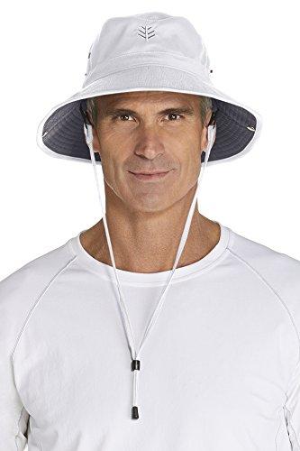 Coolibar Herren UV-Schutz Hut, Weiß, S/M (56CM)