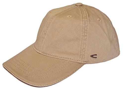 camel active Herren Basecap Mütze 6-Panel-Cap Base Cap Kappe Baseball Cap div. Farben (L (58-60), beige)