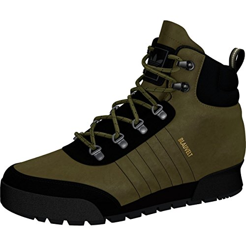 Adidas Originals Jake Boot 2.0 Skateboard, Schwarz/Schwarz/Schwarz, 7 M US, Grün - Cargo, Schwarz, braunes Leder, Olivgrün, Cargo, Schwarz, hellbraunes Leder - Größe: 40 EU