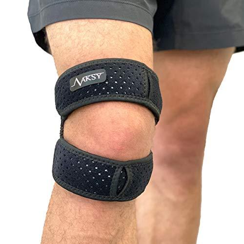 Zaksy Patella Stabilizing Dual Knee Brace V2.0 - Knee Pain Relief - Knee Support Dual Strap for Running, Osteoarthritis, Patellar Tendonitis, Osgood-Schlatter