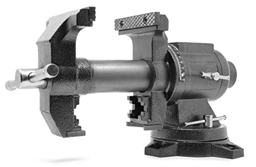 5-Inch Heavy-Duty Cast Iron Multi-Purpose Bench Vise with 360-Degree Swivel Base - WEN MPV500