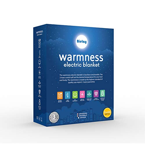 Bielay, Warmness Dubbel Elektrische Deken. Digitale Regeling met 3 Warmtestanden