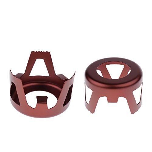 MagiDeal 2 Piezas aleación Aluminio Soporte Estufa