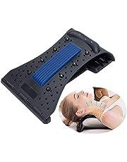 YGMXZL Dispositivo cervical del cuello de tracción,Almohadas para Cuello Masaje Almohada de viaje Cuello y Hombros para Tensión Muscular, Alivia el Dolor (Azul)