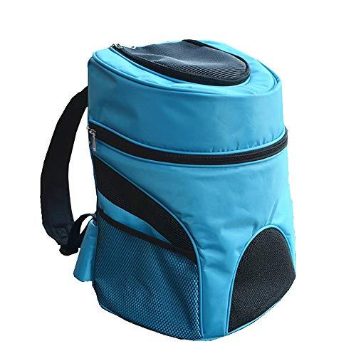 WTNL out Sacchetto di Trasporto del Gatto del Cane Traspirante Zaino del Gatto Dell'animale Domestico E Cane Zaino (Color : Blue, Size : M)