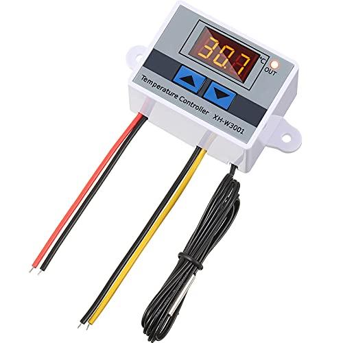 XH-W3001 Modulo Regolatore Temperatura LED Interruttore Termostato Digitale con Sonda Impermeabile Termostato Elettronico di Raffreddamento Riscaldamento da -50 ℃ a 110 ℃ (12V 10A 120W)