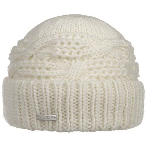 Seeberger Malida Umschlagmütze Strickmütze Damenmütze Wintermütze Beanie (One Size - cremeweiß)
