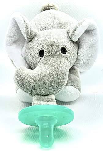 JnJ Infant Baby Plush Animal Attached Pacifier Toy Elephant product image