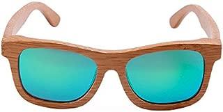 Tricherry Women Men Sunglasses Wood Bamboo Sun Glasses Polarized Coating Lens Sunglasses with Case