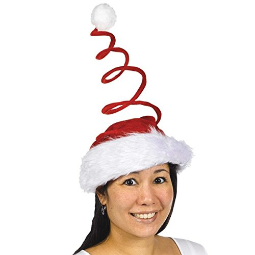 "amscan Fun-Filled Christmas and Holiday Party Swirl Santa Hat, Red/White, 16"" x 8"""