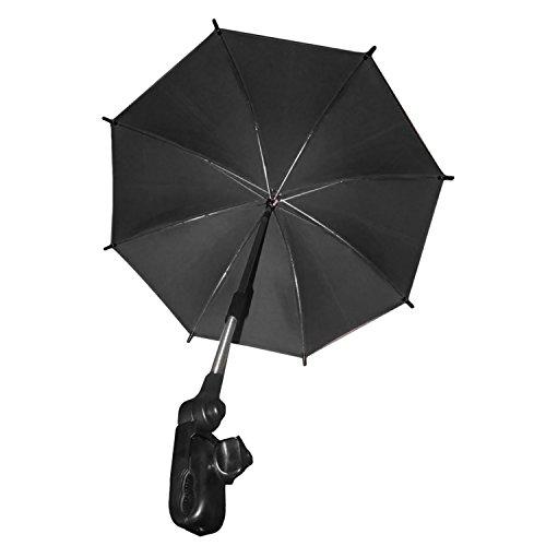 Einstellbar Baby Kinderwagen Kinderwagen Sonnenschatten UV-Regen Schutz Regenschirm Sonnenschirm mit Halter Clip für Rollstuhl Kinderwagen Zubehör Grün