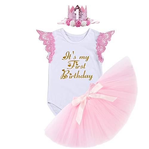 FYMNSI Infantil Bebé Niña Es mi Primer Vestido Cumpleaños