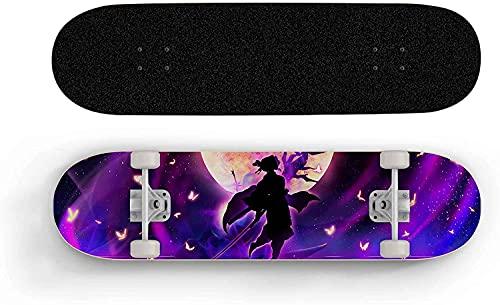 Nixi888 Anime Skateboard Doble inclinación de Cuatro Ruedas Skateboard Principiante Bread Street Scooter Extreme Sports Board, monopatín para Adultos Skateboard para Demon Slayer