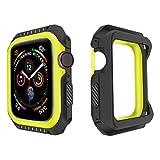 LWHAMA Lwwhama Bumper del Shell del Reloj de Flyuzi para el Reloj de Apple 3 2 1 38 mm de 42 mm Funda TPU + PC Cubierta de la PC para iWatch 4 5 40 mm Caja de protección de Marco de 44 mm