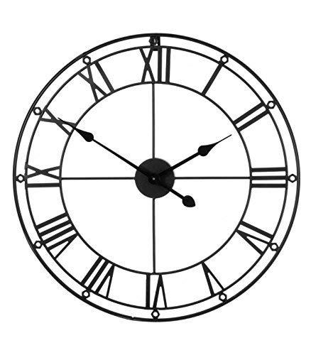 Premier Housewares PREM-2200974 wandklok, metaal, 59 x 3 x 59 cm, zwart