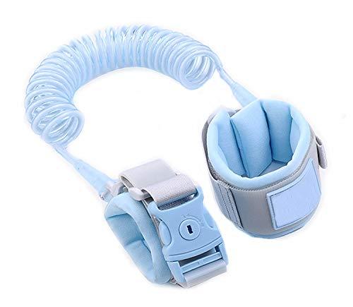 Kinder Sicherheitsleine, 2m Kinder Leine Handgelenk, Anti-verloren Gürtel Handgelenk Link(Blue) )