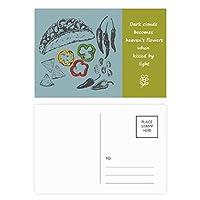 チリペッパーフードサークル 詩のポストカードセットサンクスカード郵送側20個