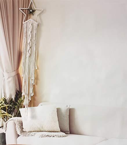 Coolqiya Boho Decor Macrame Wall Hanging, Woven Boho Bedroom Decor Dream Catcher Star, Wall Pediments Home Decoration