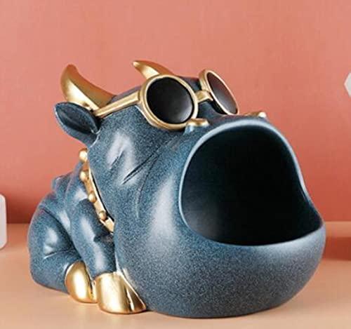 Beeldje Grote Mond Hond Katten Koe Opbergdoos Sleutel Telefoon Chocolade Snoep Opslag Mand Home Decor Woonkamer Ornamenten-A
