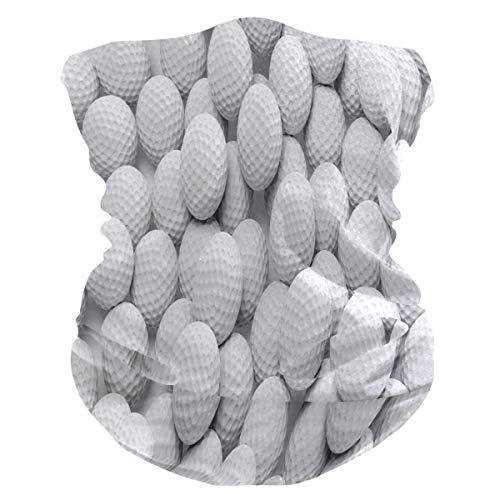 QMIN Stirnband Sport Golfball Muster Bandana Gesicht Sonnenschutz Maske Hals Gaiter Magic Schal Sturmhaube Kopfbedeckung für Damen Herren Jungen Mädchen