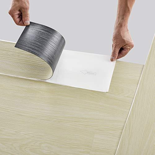 neu.holz Pisos de Vinilo-PVC Decorativo Diseño de Pisos laminados 42 planchas Decorativas = 5,85 m² Suelo Autoadhesivo Madera de Arce (Maple Wood)