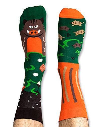 Nanushki unisex lustige verrückte Motiv Socken der Eber (44-46 EU, Jason Boarne)