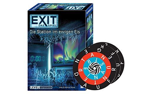 Collectix Kosmos 692865 EXIT - Das Spiel: Die Station im ewigen EIS (Level: Fortgeschrittene) + 1x Word-A-Round Minispiel