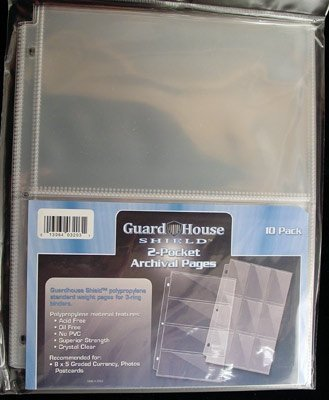 GuardHouse Shield 2 Pocket Currency Storage Pages for Graded Bills
