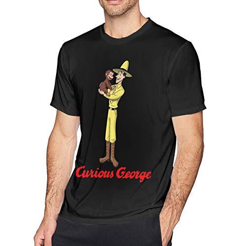 Fomente Curious George Herren Weich T Shirt Black M