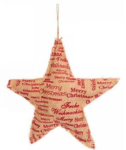 Suspension Noël étoile jute