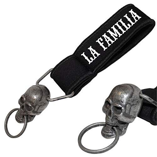Schwerer Totenkopf Schlüsselanhänger La Familia