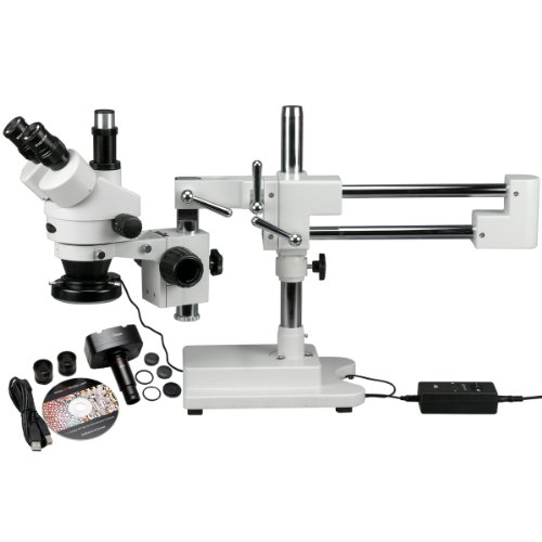 AmScope SM-4TZ-144-MT-90X 3,5X Circuito Microscopio zoom est-reo Plus 144 de la c-mara de luz LED Plus 1.3MP Digital