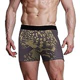 ruziniujidiangongsi Leopart Print Blue Boys Brief Underwear Breathable Soft Boxer...