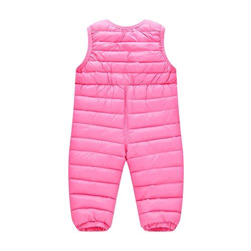 LSHEL LSHEL Neugeborenes Baby Schneehose Winter Daunenhose Warme Trägerhose für Mädchen Jungen