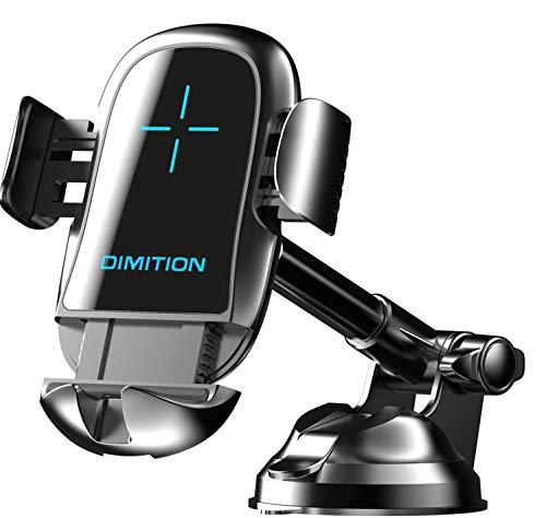 D & M DIMITION Handyhalter Fürs Auto, Automatisches Spannen handyhalterung Auto handyhalter Handyhalterung Kfz-Ladegerät Kompatibel für iPhone SE 11 11Pro Samsung S20 S10 Huawei Xiaomi usw