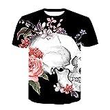 T-fashion shop Unisex Camiseta Estampada T Shirt Funny,Camiseta de Cuello Redondo para Hombre de Moda Imagen de Cartel 3D Impresión Digital Manga corta-21_Metro