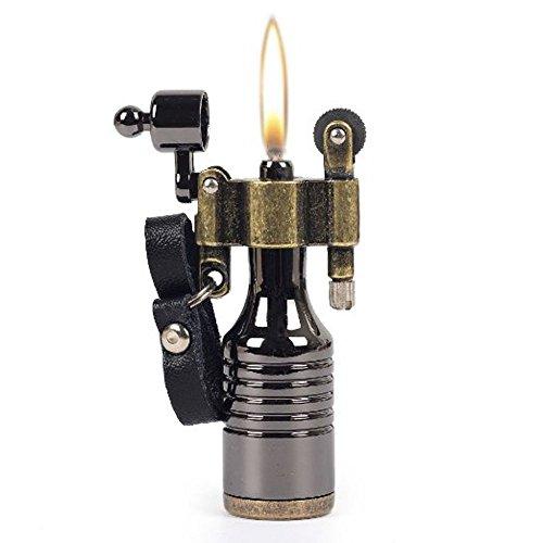 Einzigartiges Benzin-Feuerzeug im Vintage Look - Hochwertiges Feuerzeug alt zum nachfüllen in einzigartigem Design - Originelles Mini-Taschenfeuerzeug für unterwegs