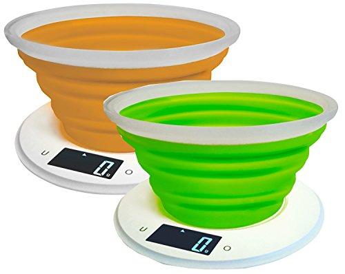 Adler, Bilancia da Cucina, in plastica, Dimensioni di 22,2 x 22,2 x 4,6 cm, di Colore Arancione