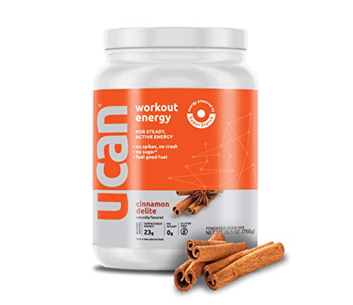 UCAN Workout Energy Powder with SuperStarch - Cinnamon Flavor (26.5oz, 30 Servings)
