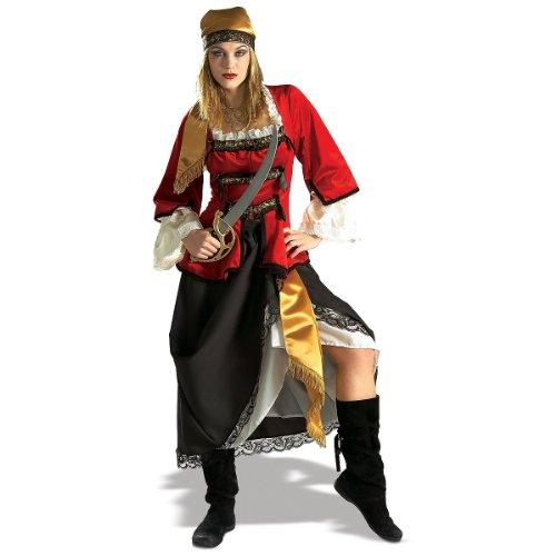 Caribbean Pirate Queen Deluxe Adult Halloween Costume Size 10-14