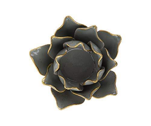 Huidige tijd bloem, handgemaakte porselein kaars houder (GRAYED JADE - PT3507)