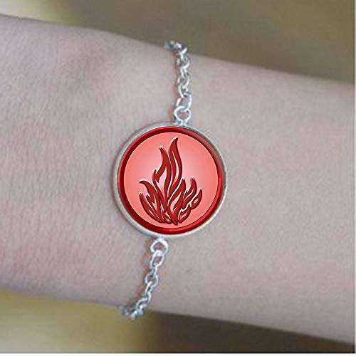 Bab Dauntless Sign of Divergent Collar colgante redondo de cristal joyería colgante foto de cristal 1 pulsera – mensaje positivo joyería
