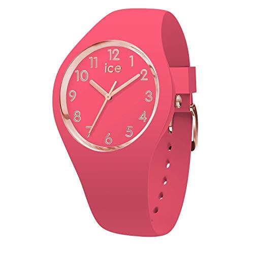 Ice-Watch - ICE glam colour Raspberry - Rosa Damenuhr mit Silikonarmband - 015331 (Small)