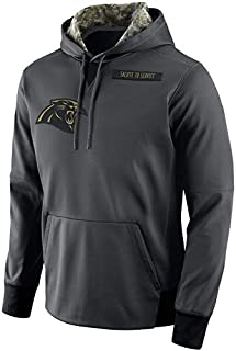 Dunbrooke Apparel Men's Carolina Panthers Salute to Service Sideline Therma Pullover Hoodie