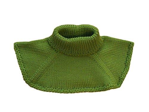 tevirP Gestrickter Halswärmer für Babys, aus Merinowolle Gr. S, grün