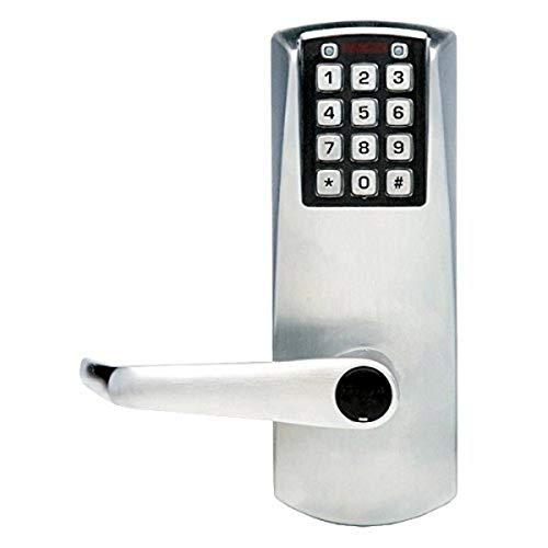 """E-Plex - E2031XSLL626 Kaba Electronic Keyless Lock, Kaba Cylinder (Schlage""""C"""" Keyway) Included, Satin Chrome Finish"""