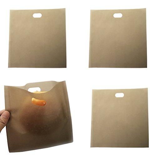 BESTOMZ 4 piezas Bolsa de papel/Tostadora bolsas - Reutilizables Antiadherente Sandwich tostadora de pizza sin tostar