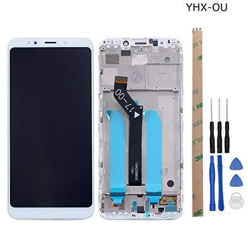 YHX-OU Écran LCD Retina de Remplacement Plein écran pour Xiaomi Redmi 5 Plus avec Cadre avec Outils à écran Tactile (Blanc)